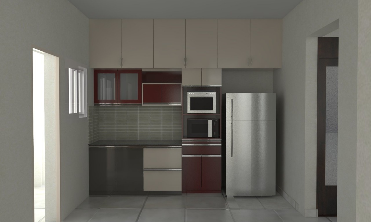 Kitchen with Tall Unit