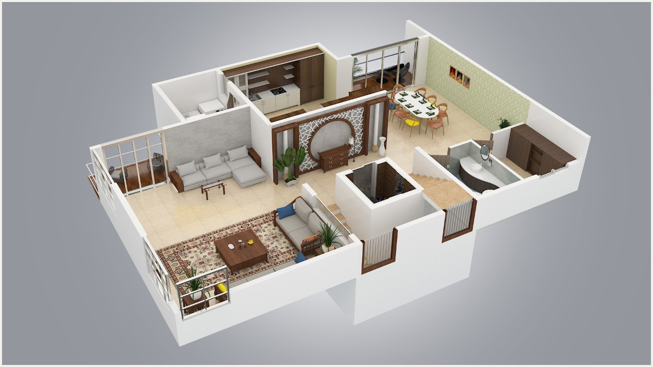 3D Layout Floor Plan