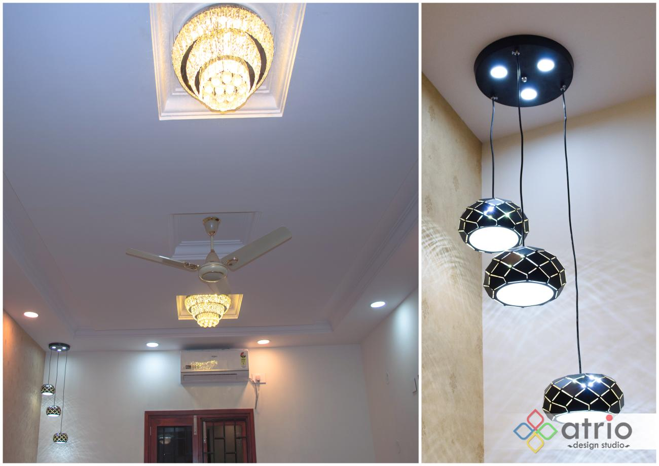 Living Room False ceiling with lighting