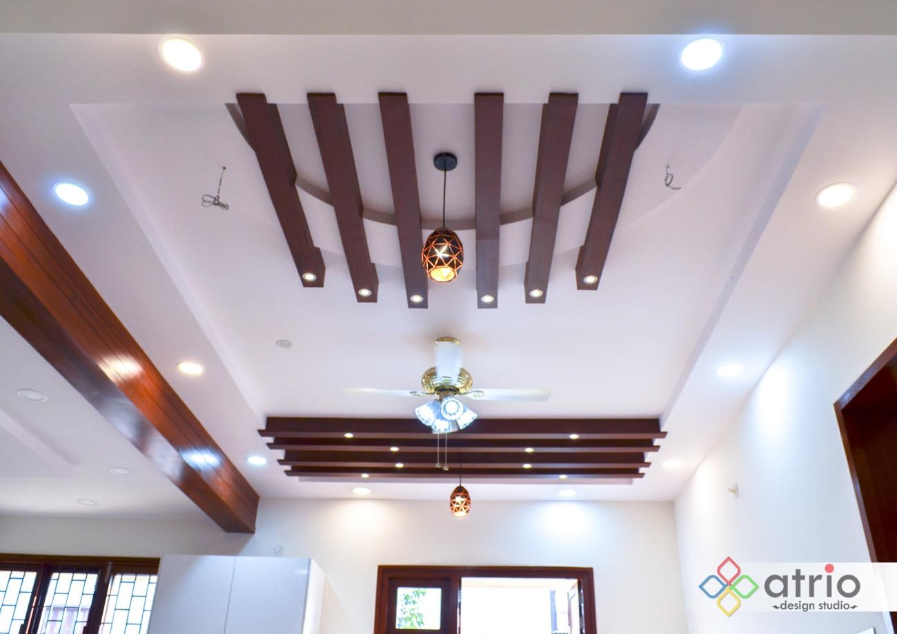 False Ceiling with Wooden Battens