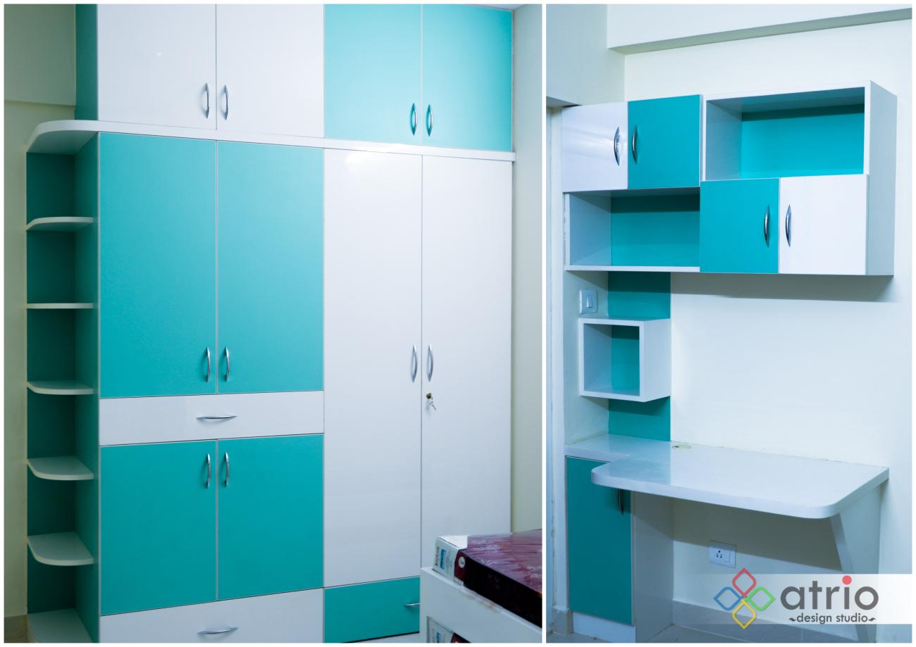 Kids Room Wardrobe with Study