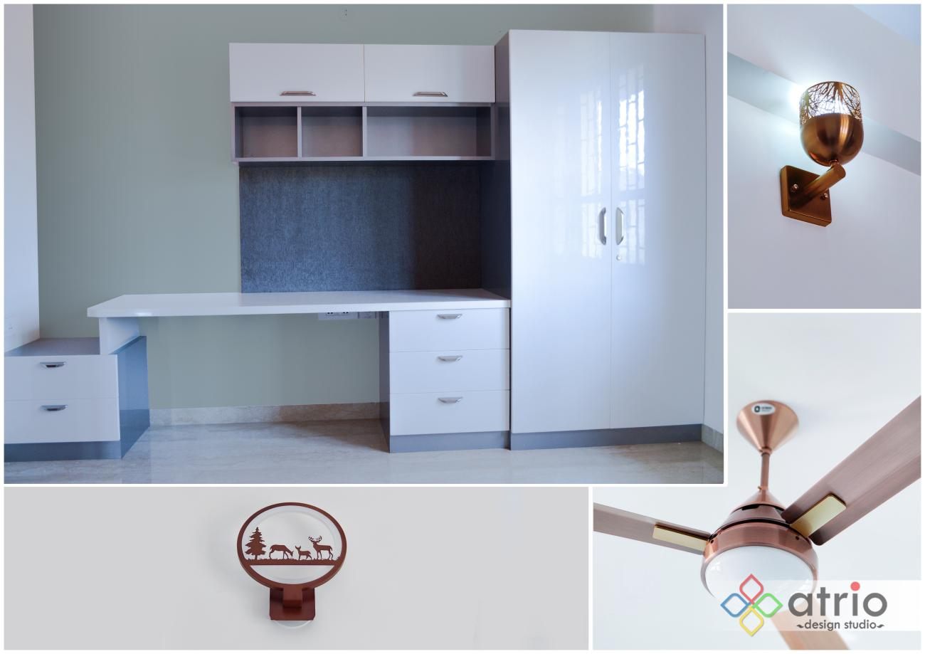 Study Unit and Cupboard with Smart Lighting