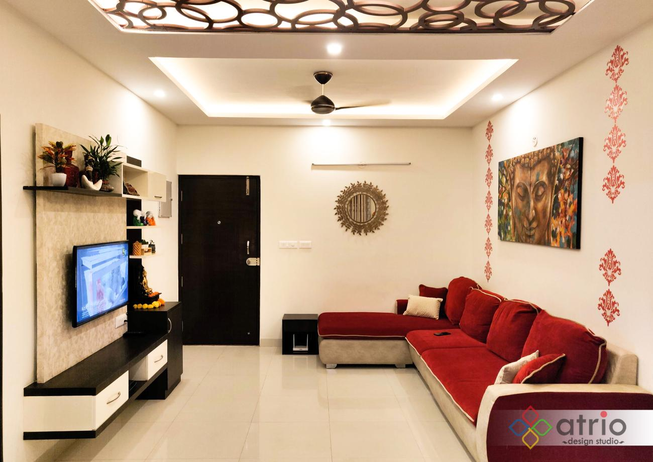 Living Area with Laser cut False ceiling